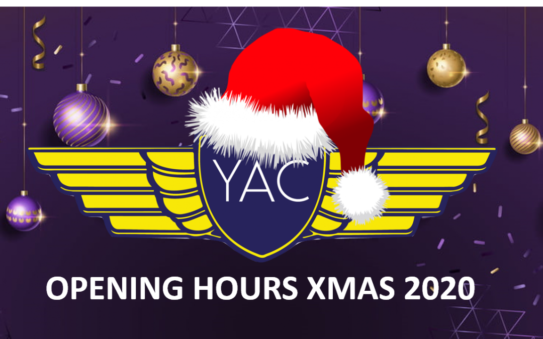 Xmas and New Year opening hours